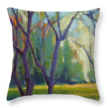 Forest In Spring Throw Pillow