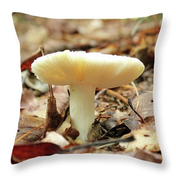 Forest Mushroom Throw Pillow