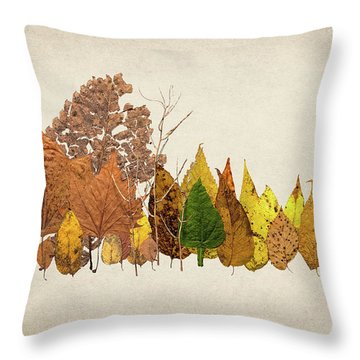 Forest Of Autumn Leaves I Throw Pillow