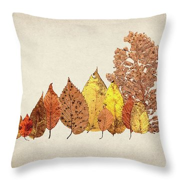 Forest Of Autumn Leaves II Throw Pillow