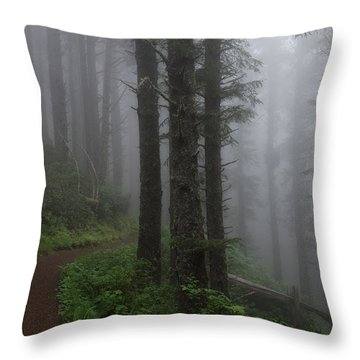 Forest Of Fog Throw Pillow