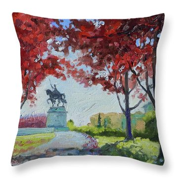 Forest Park Autumn Colors Throw Pillow