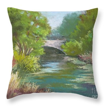 Forest Park Bridge Throw Pillow