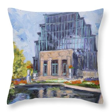 Forest Park - Jewel Box Saint Louis Throw Pillow