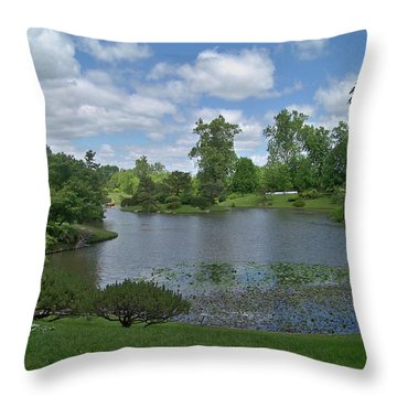 Forest Park View Throw Pillow by Julie Grace