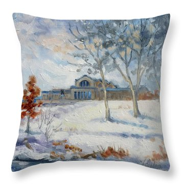 Forest Park Winter Throw Pillow