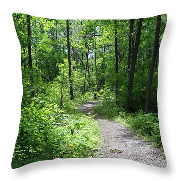 Forest Path 1 Throw Pillow