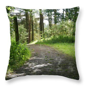 Forest Path. Throw Pillow