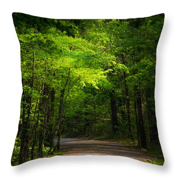 Forest Path Throw Pillow by Parker Cunningham
