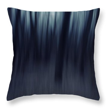 Forest Pitch Dark Throw Pillow