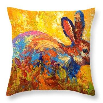 Forest Rabbit II Throw Pillow