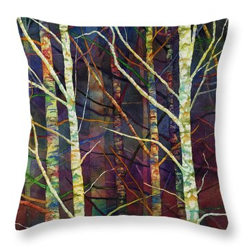 Forest Rhythm Throw Pillow by Hailey E Herrera