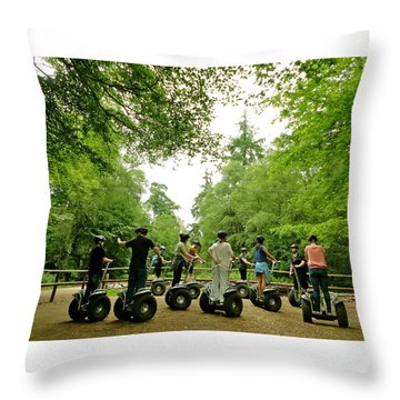 Forest Segway Throw Pillow