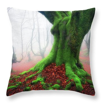 Forest Speeches Throw Pillow