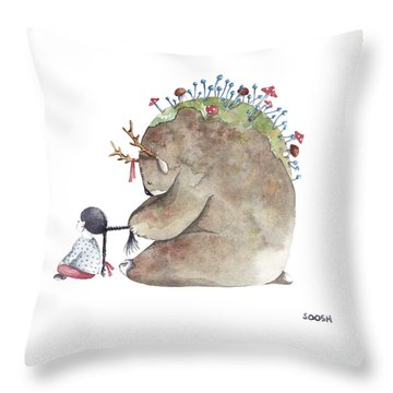 Forest Spirit Throw Pillow