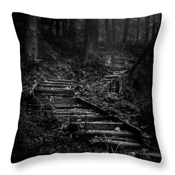 Forest Stairs Throw Pillow