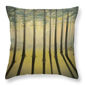 Forest Thru The Trees II Throw Pillow