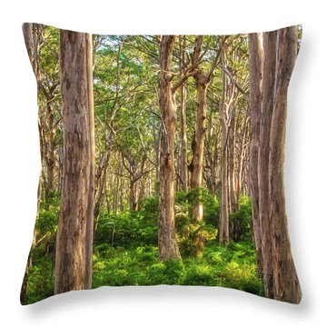 Forest Twilight, Boranup Forest Throw Pillow by Dave Catley