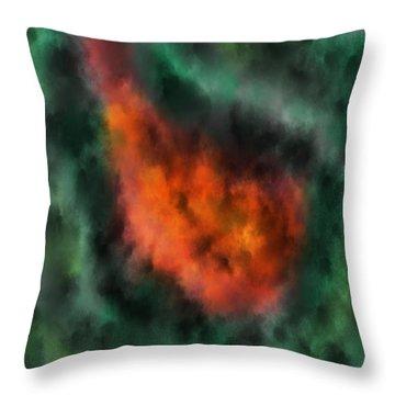Forest Under Fire Throw Pillow