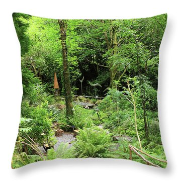 Throw Pillow featuring the photograph Forest Walk by Aidan Moran