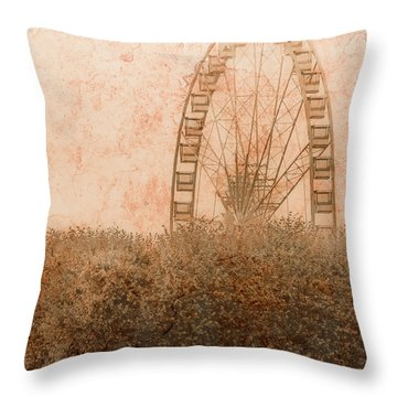 Paris, France - Forest Wheel Throw Pillow