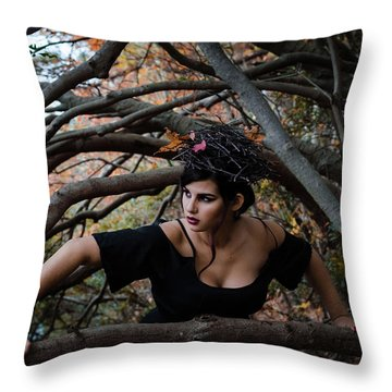 Forest Witch Throw Pillow