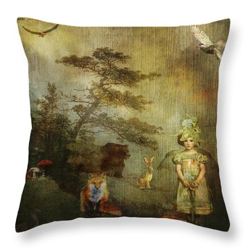 Forest Wonderland Throw Pillow by Diana Boyd