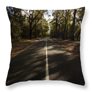 Throw Pillow featuring the photograph Forestry Road Landscape by Jorgo Photography - Wall Art Gallery