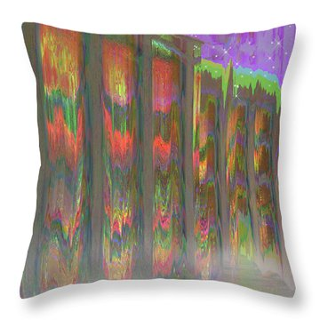Throw Pillow featuring the digital art Forests Of The Night by Wendy J St Christopher