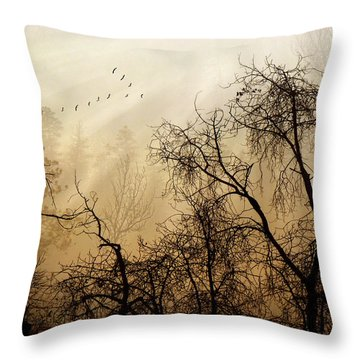 Forever Autumn Throw Pillow
