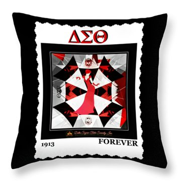 Forever Delta  Throw Pillow