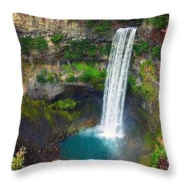 Brandywine Falls, Bc Throw Pillow