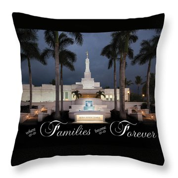Forever Families Throw Pillow by Denise Bird