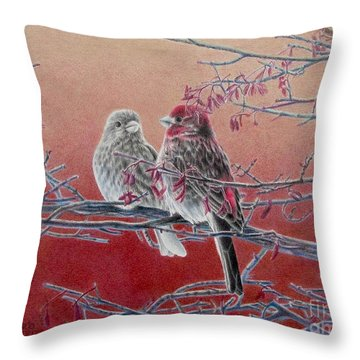 Forever Finch Throw Pillow