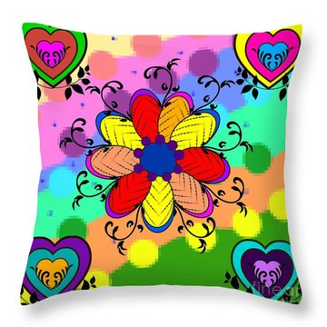 Forever Floral Throw Pillow