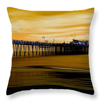 Forever Golden Throw Pillow