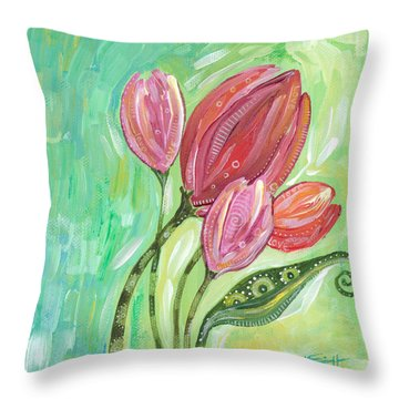 Forever In Bloom Throw Pillow by Tanielle Childers