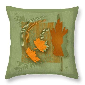 Forever Leaves Throw Pillow by Ben and Raisa Gertsberg