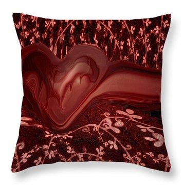 Forever Love Throw Pillow by Linda Sannuti