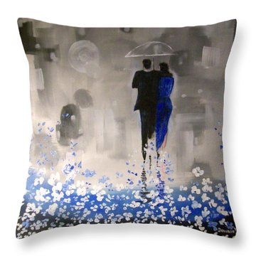 Forever Love Throw Pillow by Raymond Doward