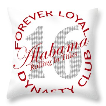Throw Pillow featuring the digital art Forever Loyal Dynasty Club by Greg Sharpe