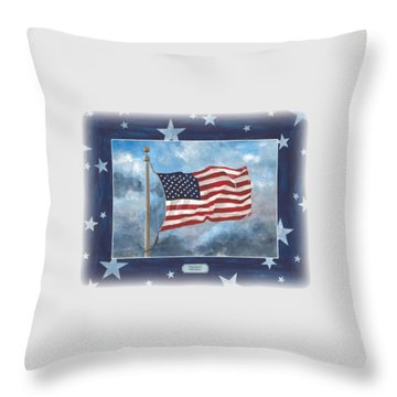 Forever Old Glory  Throw Pillow by Herb Strobino