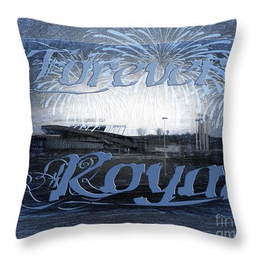 Forever Royal Throw Pillow by Andee Design