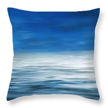 Throw Pillow featuring the painting Forever Sea by Mark Taylor
