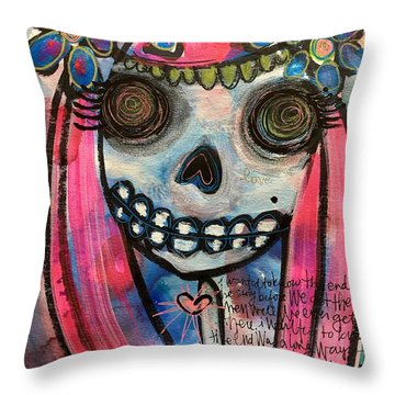 Throw Pillow featuring the painting Forever With You by Laurie Maves ART