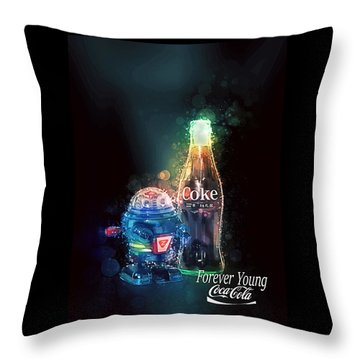 Forever Young Coca-cola Throw Pillow