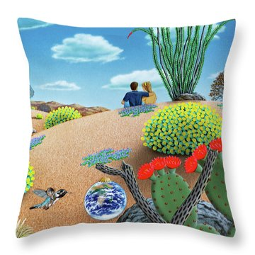 Forever Yours Throw Pillow by Snake Jagger