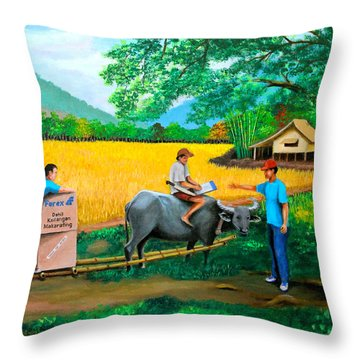 Forex 1 Throw Pillow