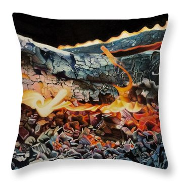 Forge Throw Pillow by David Hoque