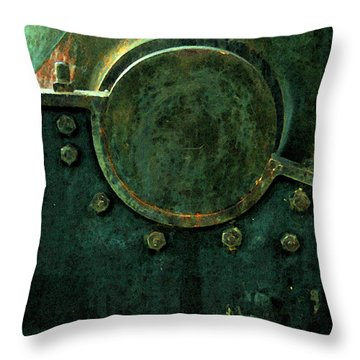 Forged In Green Throw Pillow